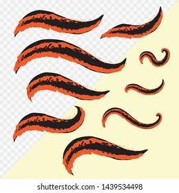 Hand Draw Fox Tail, Vector illustration