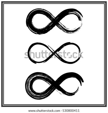 Hand Draw Grunge Symbol Infinity Vector Stock Vector Royalty Free