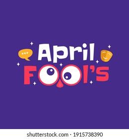 Hand draw illustration of april fools day. Vector Illustration