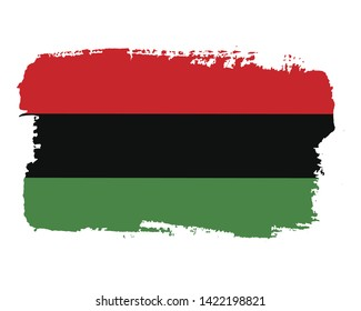 Hand draw Juneteenth Freedom Day flag in vector format. Flag for poster. Juneteenth symbol background. Concept design.