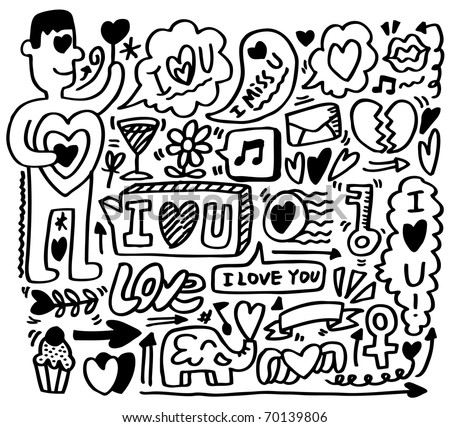 Hand Draw Love Element Stock Vector Royalty Free 70139806
