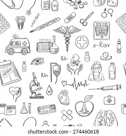 hand draw medicine pattern, excellent vector illustration, EPS 10