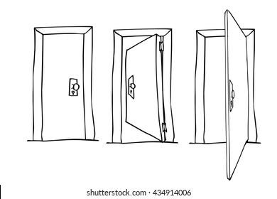 Hand Draw Sketch of Doors