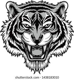 Hand draw style ,Tiger design vector illistration