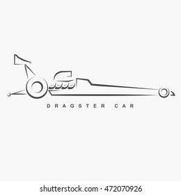 Hand draw style of top fuel dragster car.(EPS10 art vector)