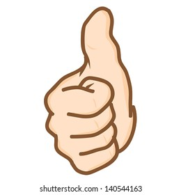 Hand draw hand thumbs up Vector