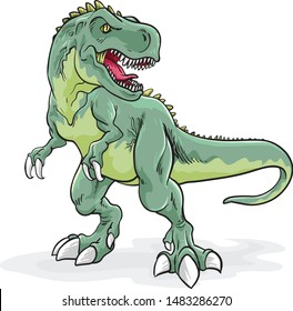 hand draw t-rex illustration suitable for any of your graphic design project