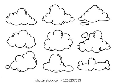 Hand draw the weather collection. Flat style vector illustration.
