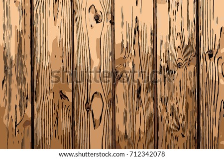 Hand Draw Wood Plank Texture Background Stock Vector Royalty Free