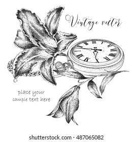 5e8c37bc4 Pocket Watch Watercolor Images, Stock Photos & Vectors | Shutterstock
