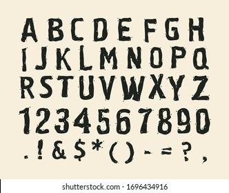 Hand drawing alphabet. vector illustration.