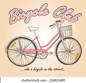 Hand Drawing Bicycle