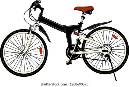 hand drawing bicycle vector