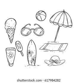 76c1b6efd0a hand drawing black and white summer icons