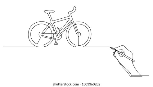 hand drawing business concept sketch of bicycle