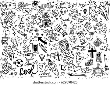 Hand drawing Doodle, vector illustration.