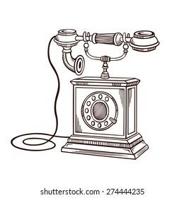 Telephone Sketch Images, Stock Photos & Vectors | Shutterstock