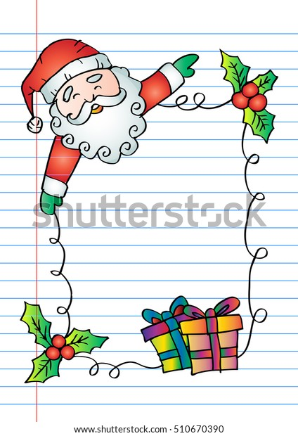 hand drawing santa claus christmas gifts stock vector royalty free 510670390 https www shutterstock com image vector hand drawing santa claus christmas gifts 510670390
