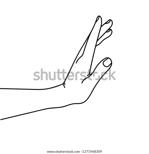 Hand Drawing Side Sign Stop Stock Vector Royalty Free 1271968309