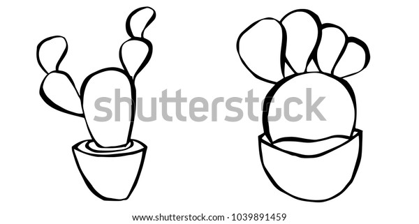 Hand Drawing Sketch Black White Cute Stock Vector Royalty