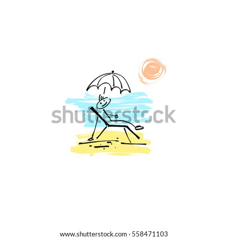 Hand Drawing Sketch Doodle Human Stick Stock Vector (Royalty