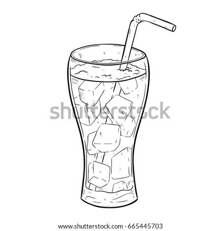 hand drawing soda or