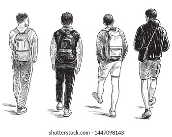 Sketches Teenagers Stock Illustrations Images Vectors