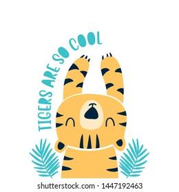 Hand drawing tiger  illustration vector.