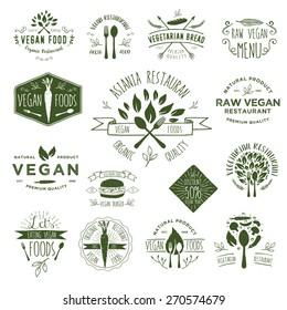 Hand Drawing Vegan Badges