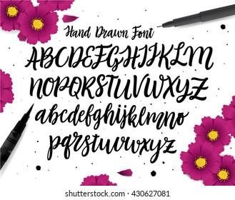 Hand drawn ABC set.