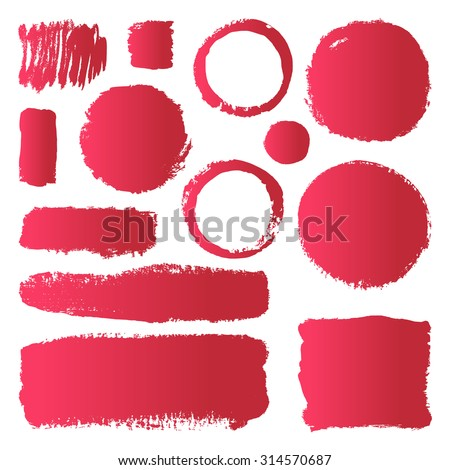 Hand Drawn Abstract Make Paint Brush Stock Vector Royalty Free