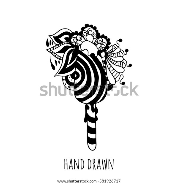 hand drawn abstract sweet. Vector
