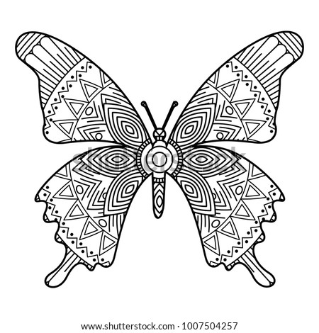 adult coloring pages butterfly Hand Drawn Adult Coloring Pages Butterfly Stock Vector (Royalty  adult coloring pages butterfly