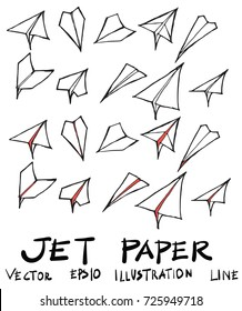 Hand drawn airplane isolated. Vector sketch black and white background illustration icon doodle