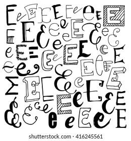 Script Letter E Images Stock Photos Vectors Shutterstock
