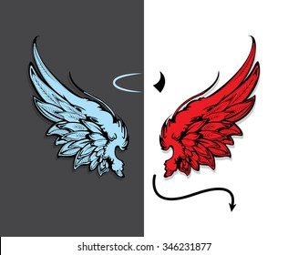 Angel And Devil Images Stock Photos Vectors Shutterstock