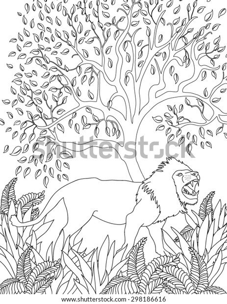 Hand Drawn Animal Coloring Page | Royalty-Free Stock Image