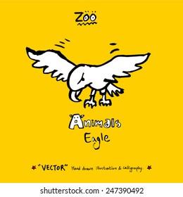 Hand drawn animal illustration - vector