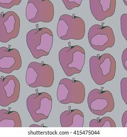 Hand drawn apple pattern