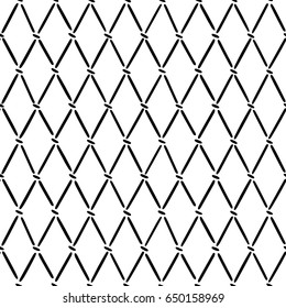 Hand drawn argyle pattern. Abstract lines and dots background.