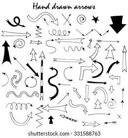 Hand drawn arrows for your design and business presentations.