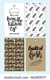 Hand Drawn Bakery Gift Tags Illustration