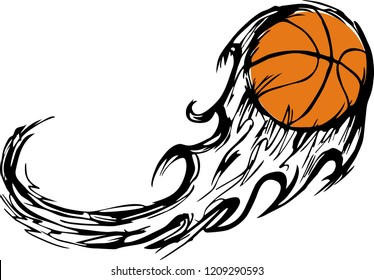 Basketball Design Change Your Game Stock Vector (Royalty