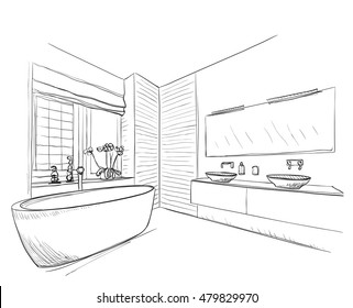 Sketches For Bathroom | Wiring Diagram