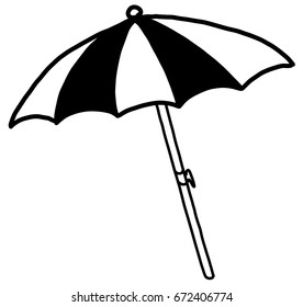 Hand Drawn Beach Umbrella