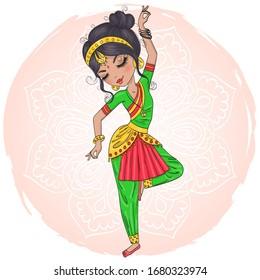 India Dancing Cartoon Images Stock Photos Vectors Shutterstock