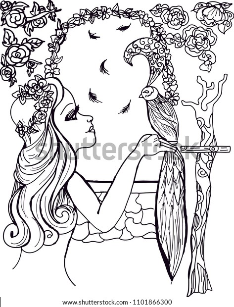 Beautiful woman coloring page for adults, coloring sheet to print ...   620x473