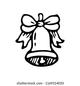 school bell sketch images stock photos vectors shutterstock Doorbell Diagram hand drawn bell doodle sketch back to school icon decoration element isolated