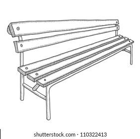 Hand drawn bench