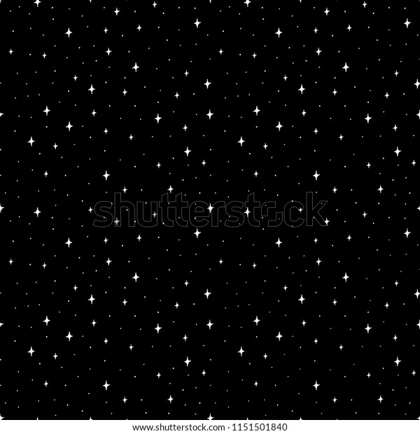 Hand Drawn Black White Doodle Star Stock Vector Royalty Free 1151501840